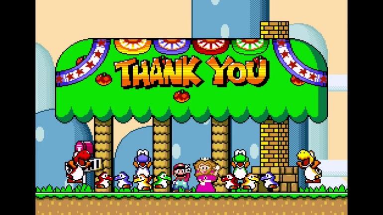 Mario world ending